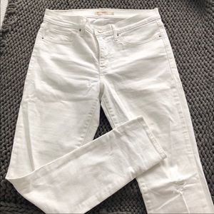 Levi's 311 shaping skinny pure white jeans